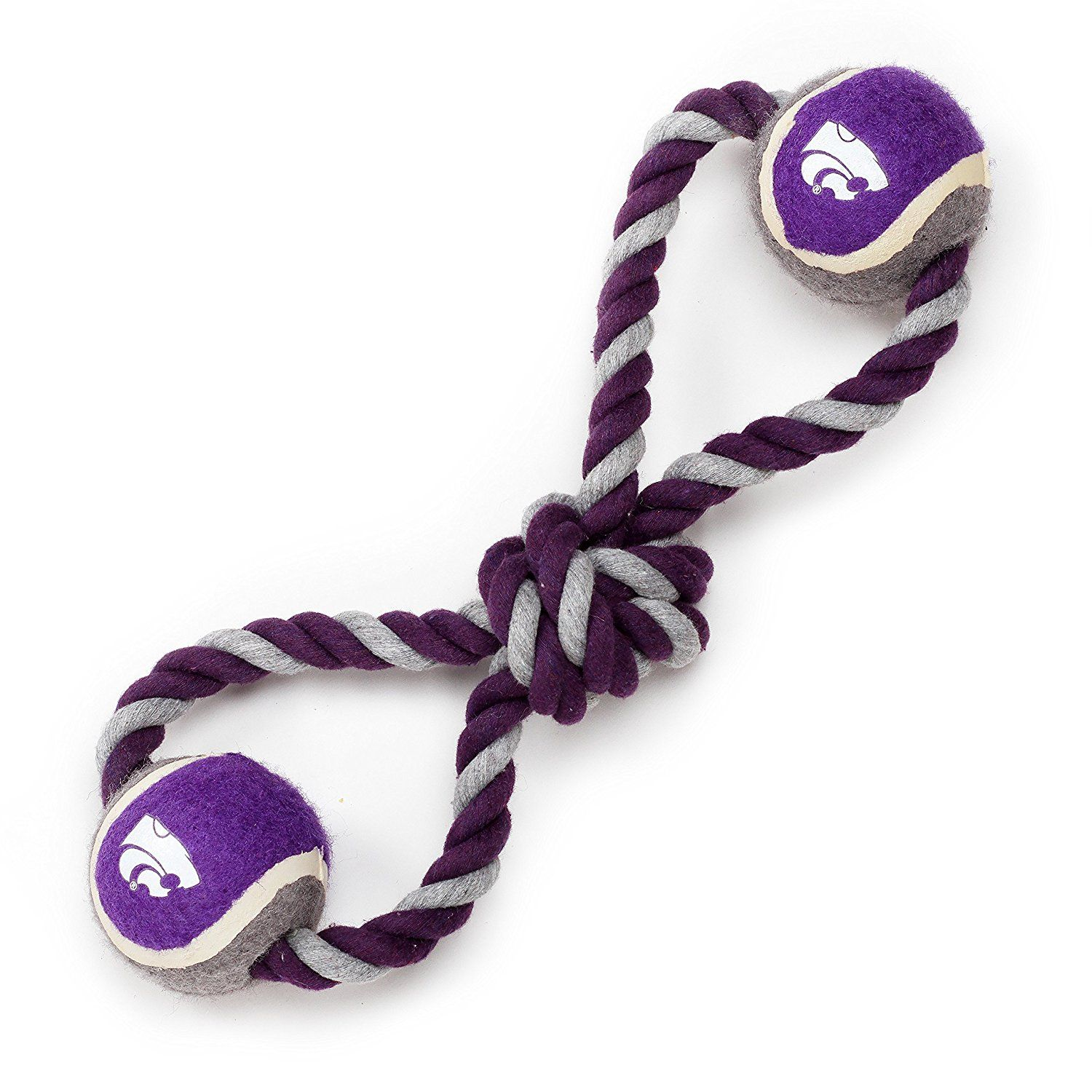 Pet Goods Manufacturing Kansas State Wildcats Double Ball With Dog