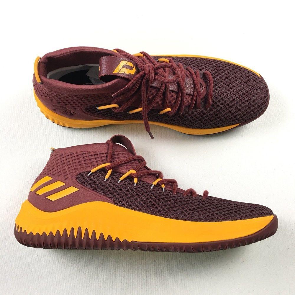 cheaper 4c92f cc6d9 Adidas Dame 4 Basketball Shoes Damian Lillard IV USC Cardinal Gold Men s 12  fashion cost ...