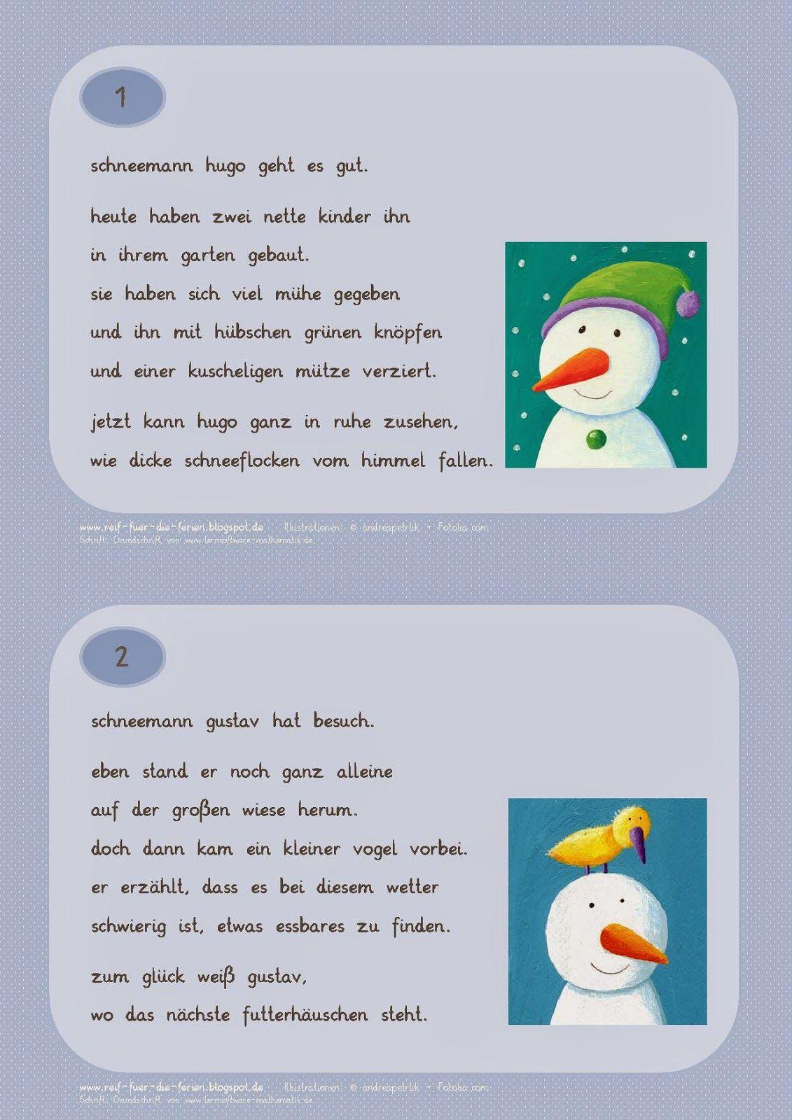 Abschreibkartei Schneemänner Kleinbuchstaben | Schule | Pinterest ...