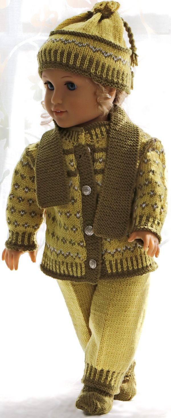 Knitting patterns for american girl doll clothes - This outfit looks ...