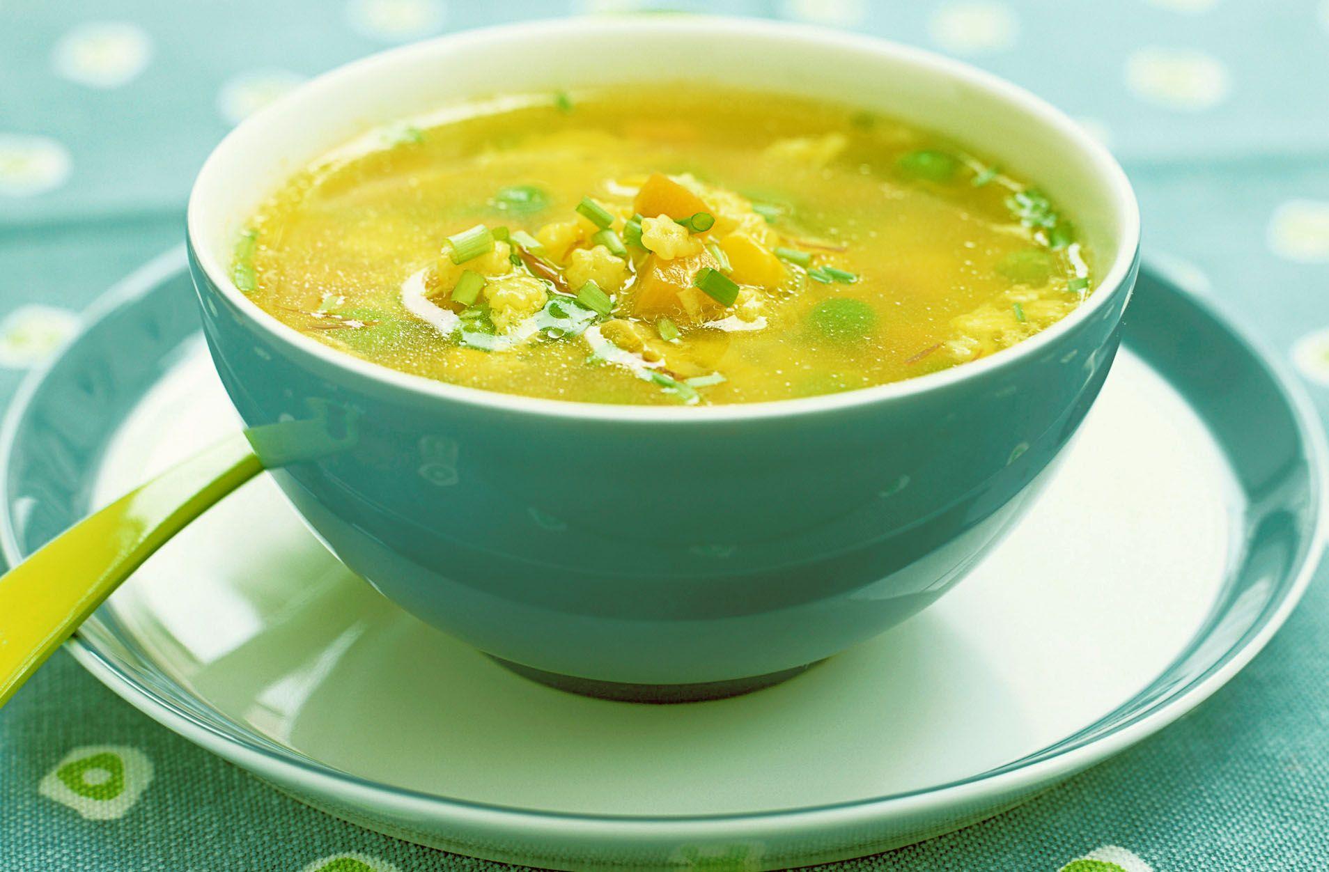 Als je verkouden bent, is licht verteerbare voeding vaak het best ...
