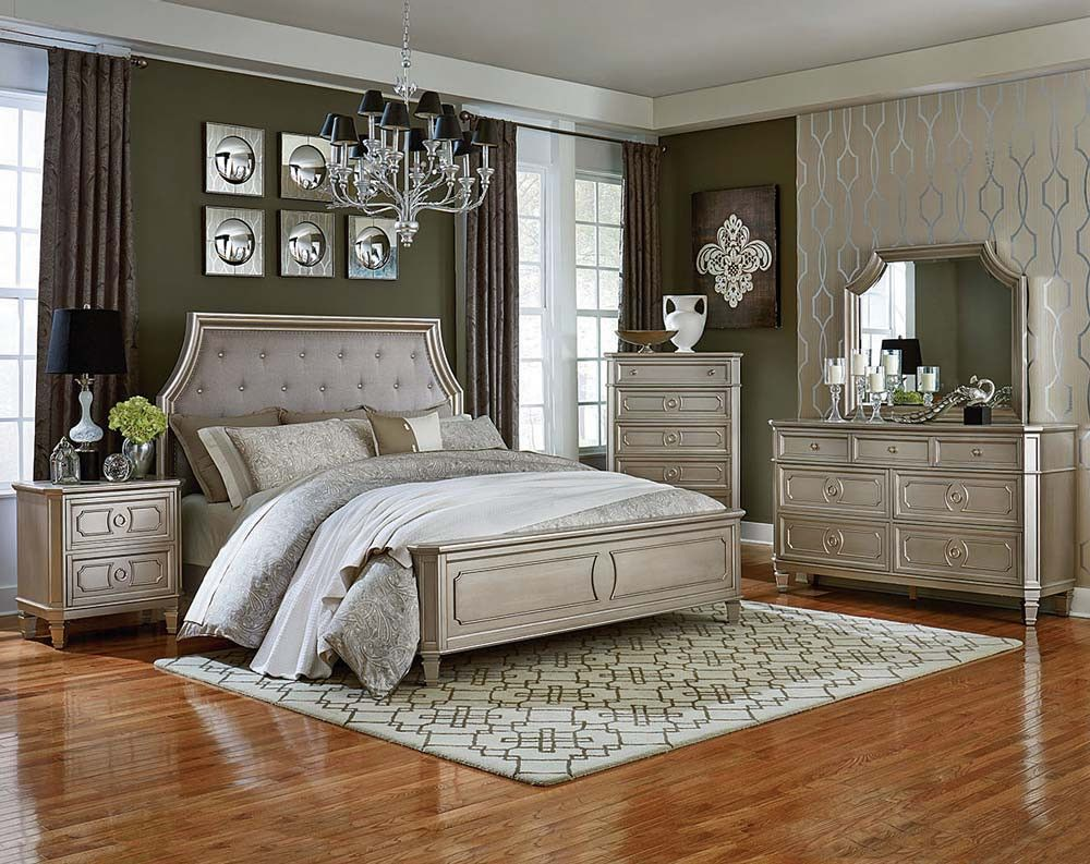 Silver, 3 or 5 Piece Bedroom Suite | Windsor Silver Bedroom ...