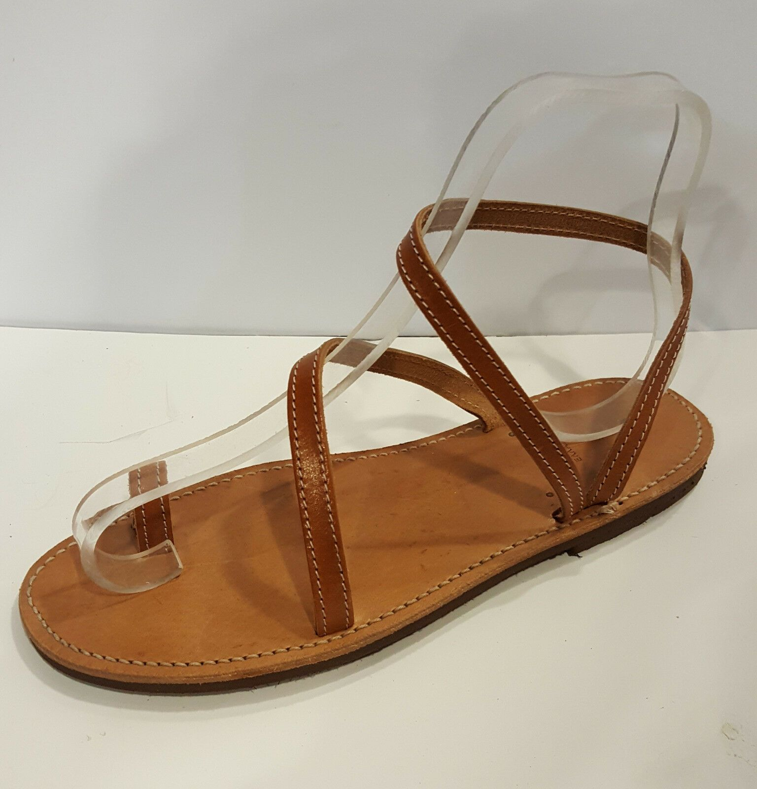 Handmade Leather Sandals Greek Production Brown Simple New Design Ancient Style