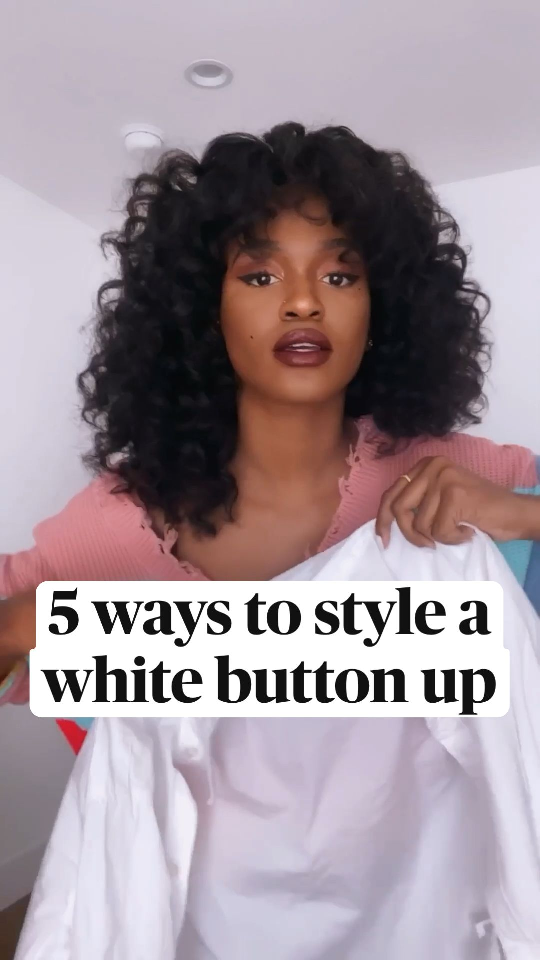 5 Ways To Style A White Button Up