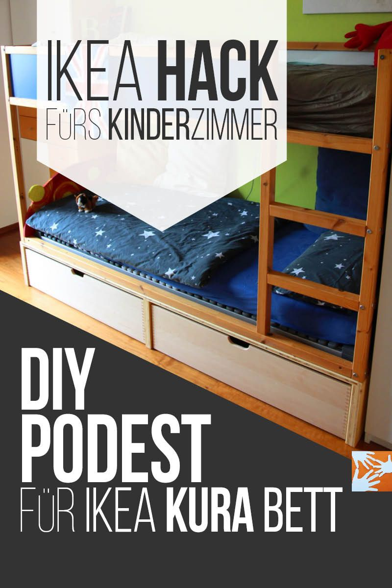 Chaosfreies kinder und jugendzimmer ikea kura hack for Kinderzimmer hacks