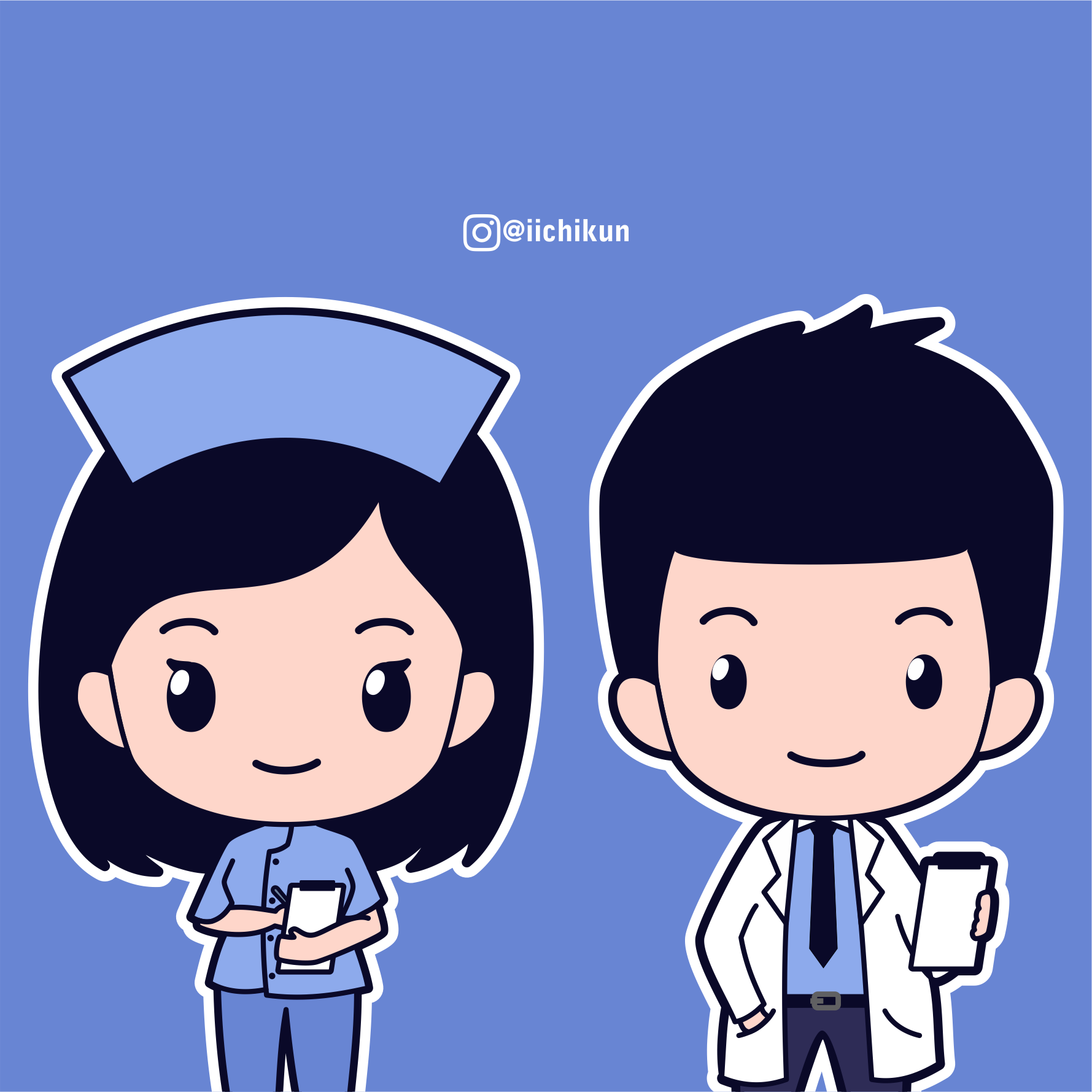 Chibi Doctor Nurse Vector Chibi Girl Drawings Nurse Drawing Nurse Cartoon