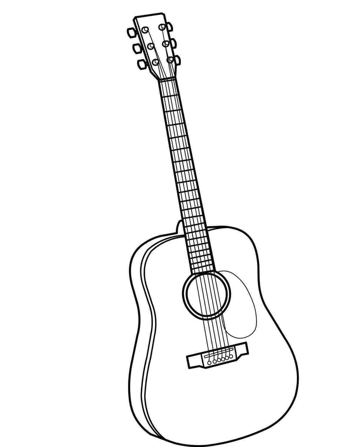 Gitar Boyama Sayfasi Gitar Cizimler Muzik