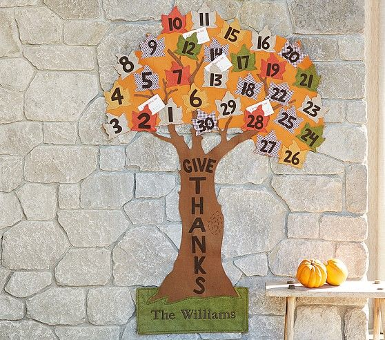 Give Thanks Tree Countdown Calendar Thanksgiving Advent