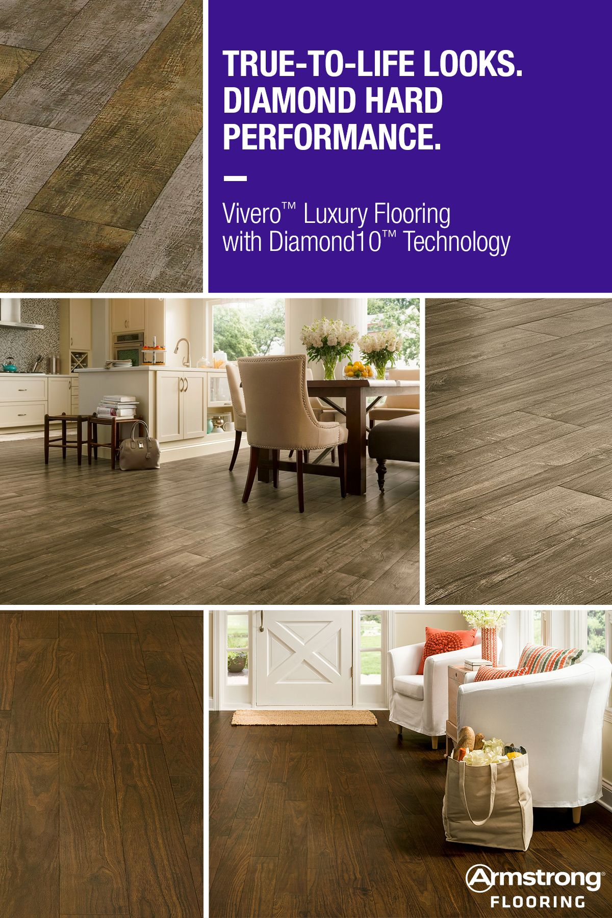 New Vivero Luxury Flooring Offers Beautiful Looks Combined With Exclusive Diamond 10 Technology For Enhanced Durability Realistic Visuals Rustic