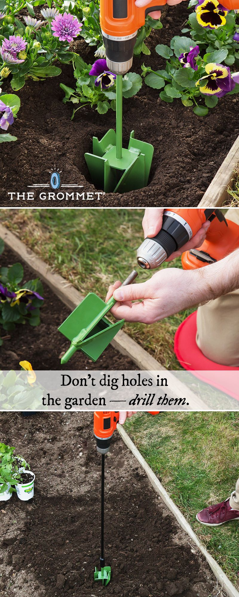 Fit This Garden Hole Digger Onto Your Power Drill To Dig Faster