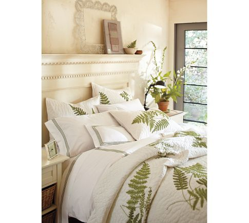 Grand Embroidered 280 Thread Count Duvet Cover Shams Pottery