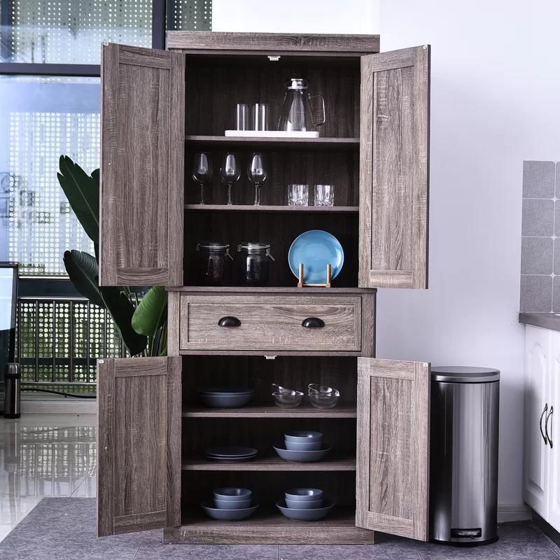 Dizon 73 Kitchen Pantry In 2020 Kitchen Furniture Storage Tall Kitchen Storage Kitchen Clutter