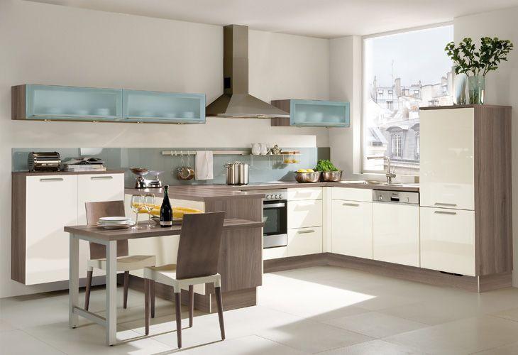 Küche in Creme #Wohnküche wwwdyk360-kuechende Küchen Pinterest - küche magnolia hochglanz