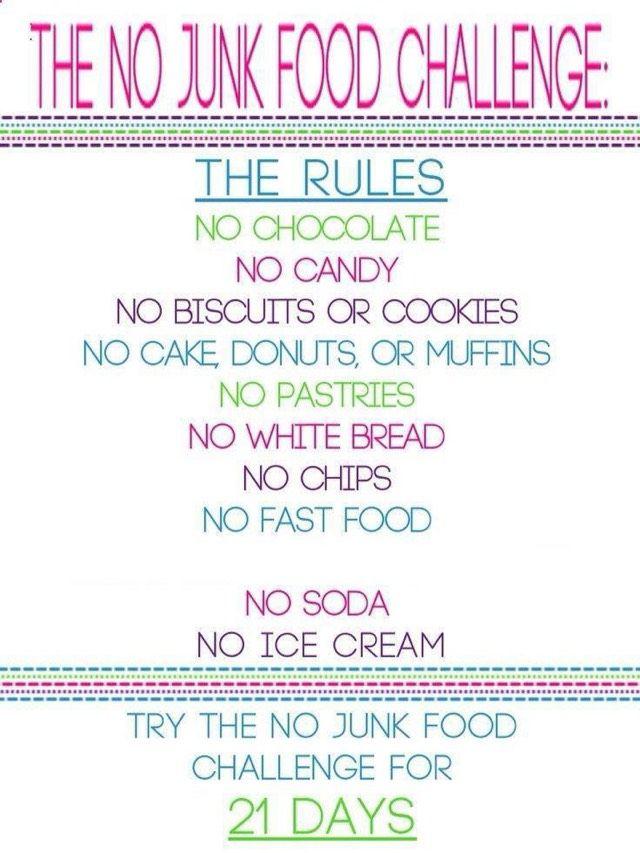 day no junk food challenge tipit college diet plancollege also chips sodas or regular chocolate rh pinterest