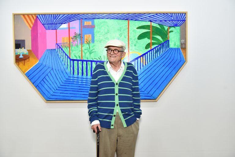 "Arte al bar: DAVID HOCKNEY ""A bigger interior with blue ..."