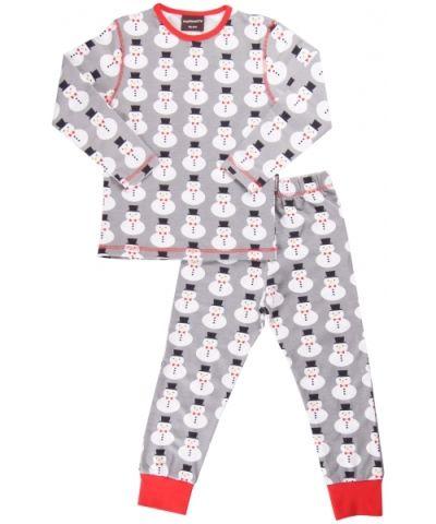 Maxomorra Pyjamas Set Snowman strl 98/104
