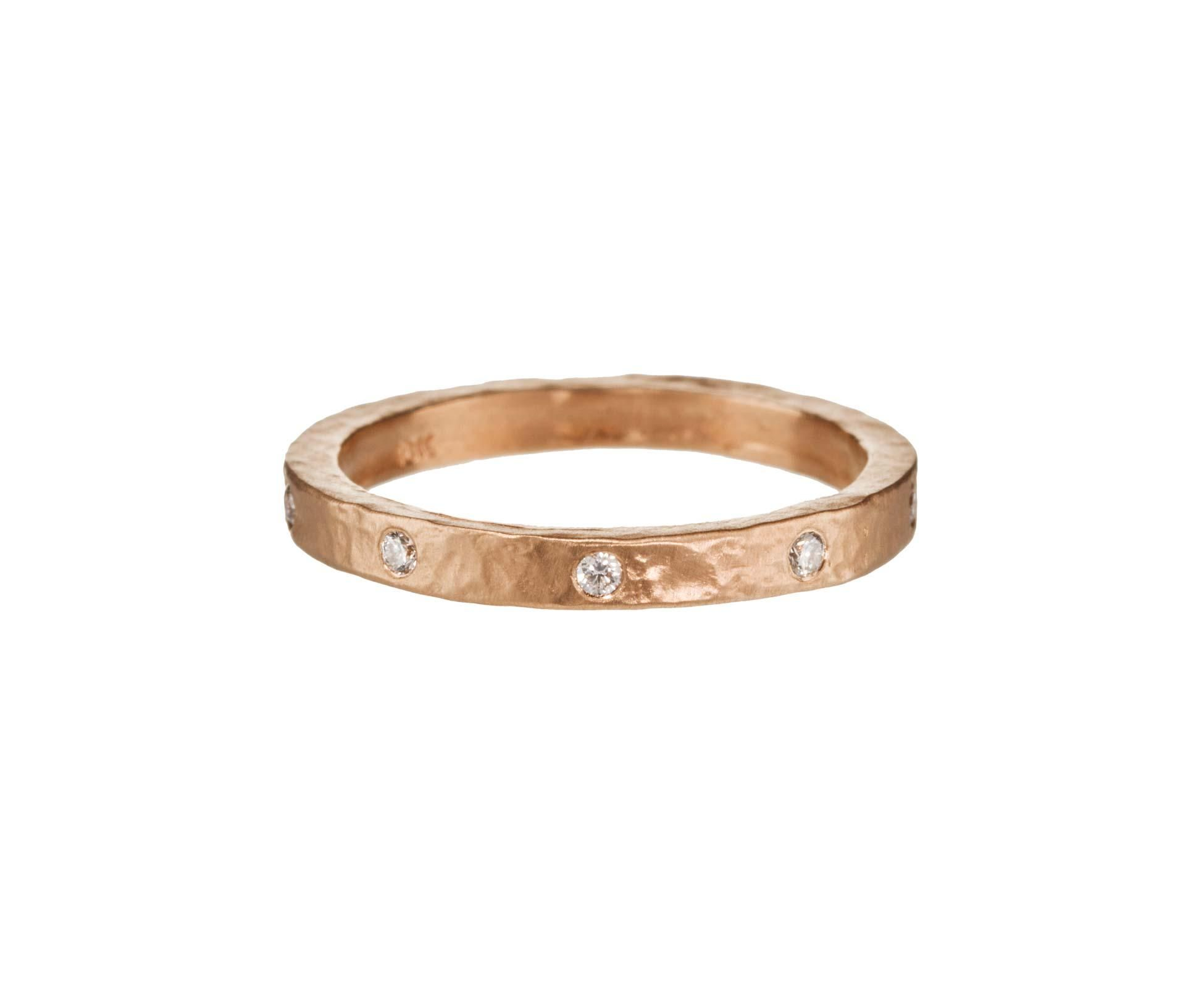 82542637a Stacking $1250.00 Mandrel Studio | Rose Gold Diamond Band in Rings Bands at  TWISTonline