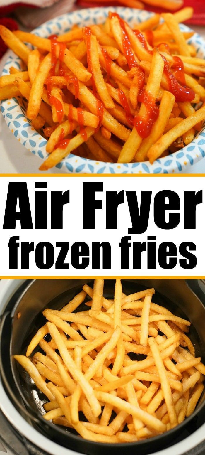Frozen french fries air fryer style are the best!! Crispy