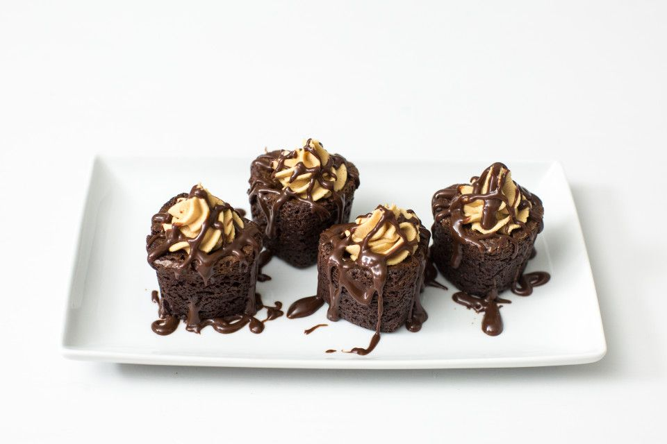 Express your love with these Peanut Butter Brownie Hearts. Better than flowers!