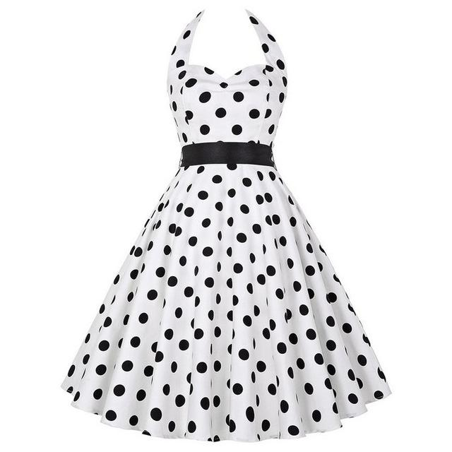 8fa83a86c74f ... Vintage Flare Dresses. Polka Dots   Roses Dress Big Swing Dress (12  styles to choose from)