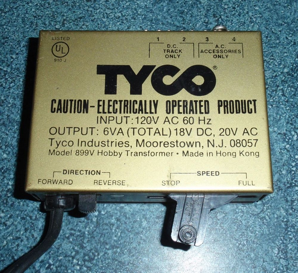 Vintage Tyco Model 899v Hobby Toy Train Transformer Ho