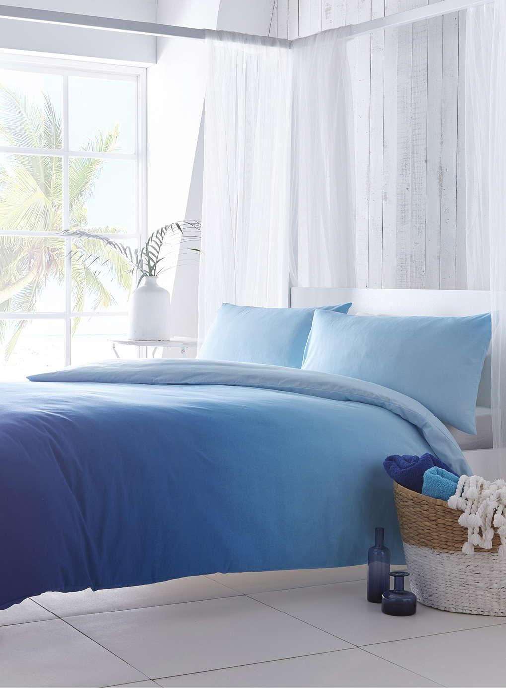 Santorini Blue Ombre Bedding Set Bedding Sets Home Lighting Furniture Bed Linens Luxury Ombre Bedding Blue Bedding Sets