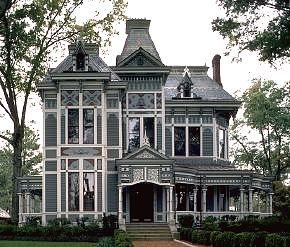 Victorian house. The Stick Style, popular from about 1860 to 1890, is  sometimes