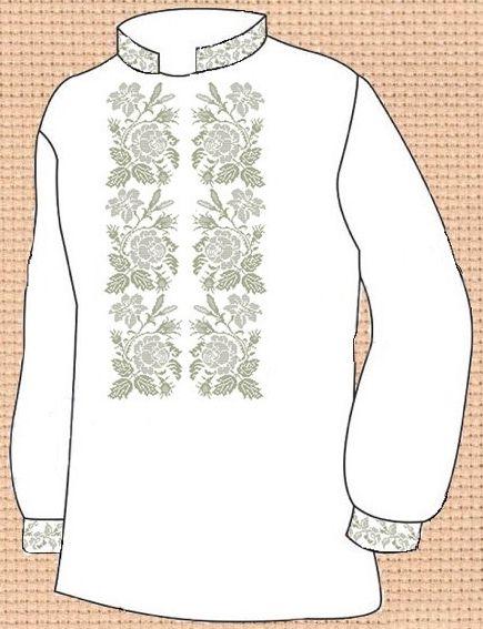 Заготовка для вишивки чоловічої сорочки (СЧ-099)