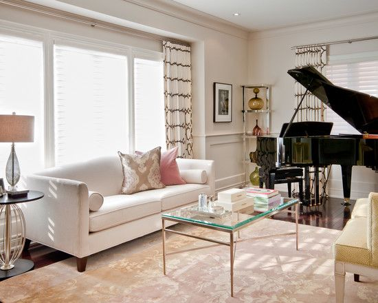 Office With Baby Grand Piano Design Pictures Remodel Decor And Ideas Page 4 Piano Living Rooms Grand Piano Living Room Piano Room Decor