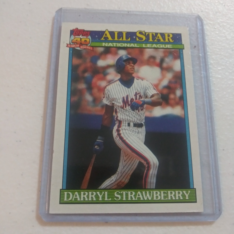 1991 Darryl Strawberry Topps All Stars 1990 Leaders 402 Etsy In 2020 Darryl Strawberry Baseball Cards All Star