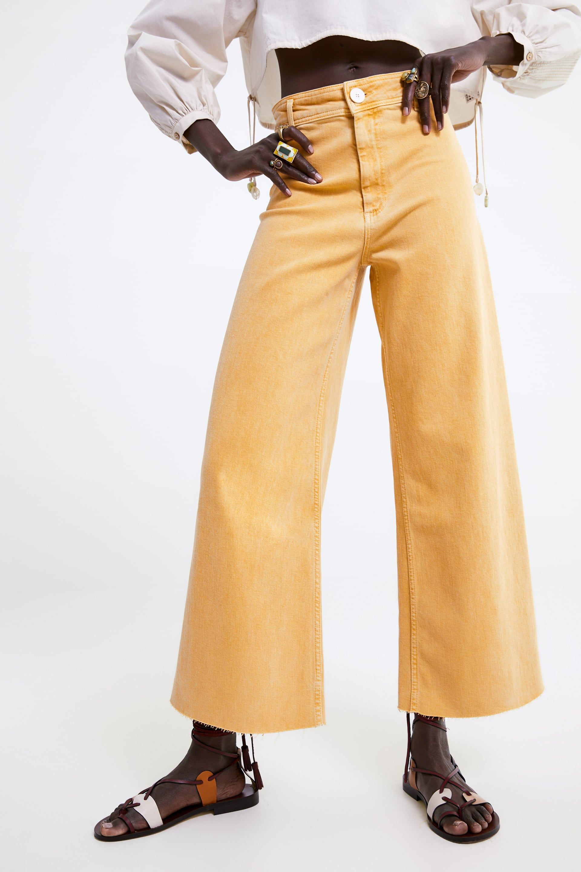 Zw Premium Marine Straight Leg Jeans View All Jeans Woman Zara United States Straight Jeans Jeans Straight Leg Jeans