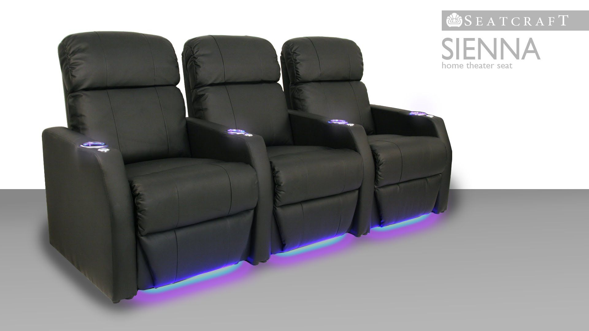 The Seatcraft Sienna Home Theater Seat Is Renowned For Its Elegant E Saving Design And Accented With Ambient Lighting Swivel Tray Tables