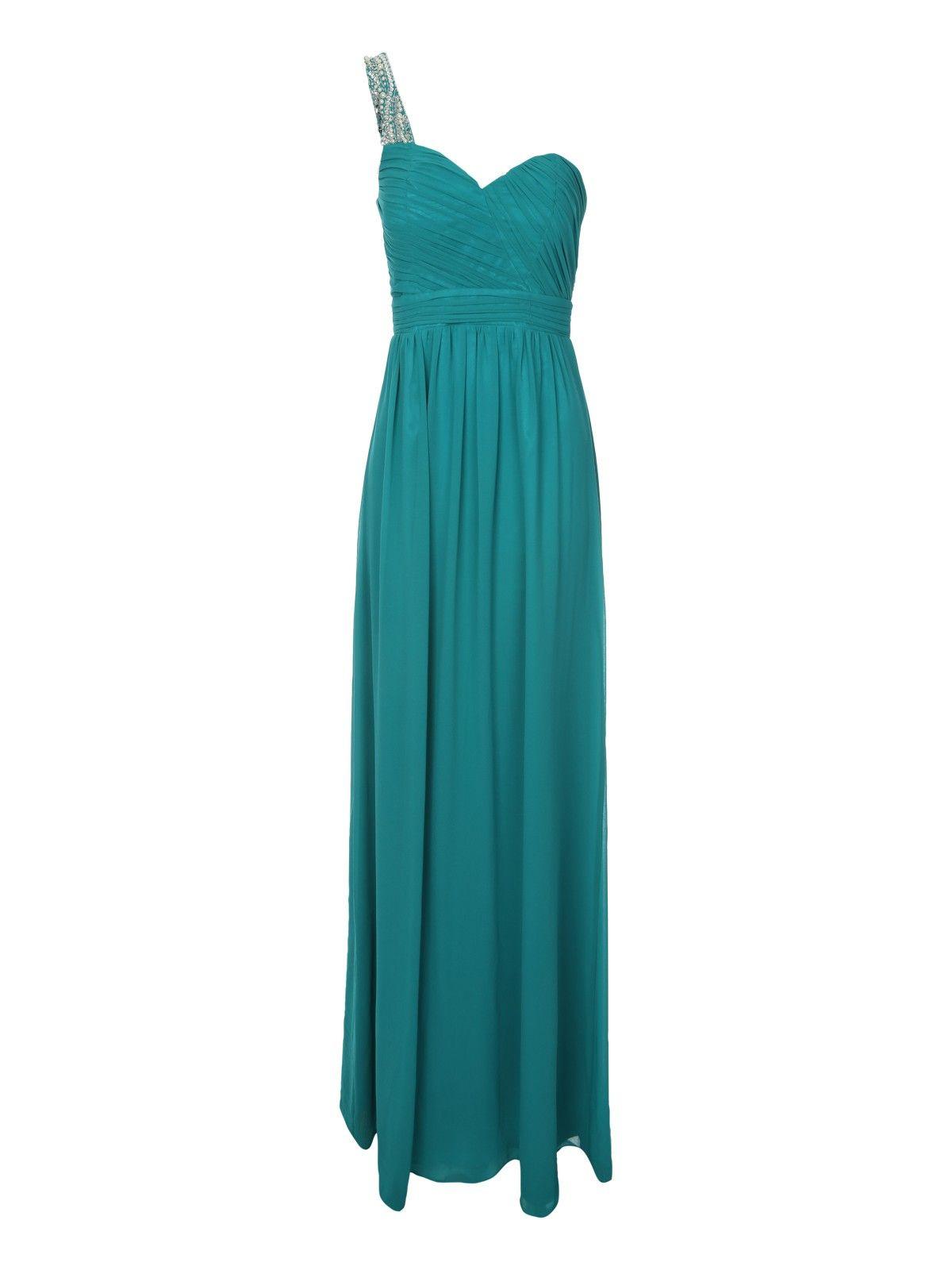 Jane Norman Oriental Pleat Maxi Dress In Black