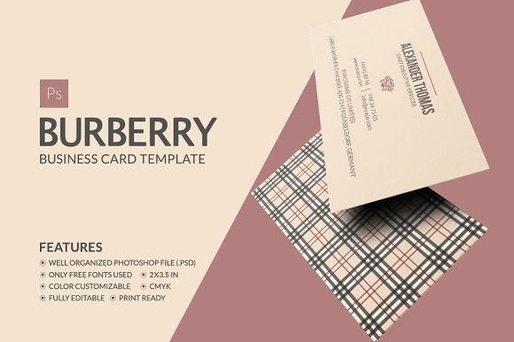 Burberry business card by marvel on creativemarket business cards burberry business card by marvel on creativemarket reheart Gallery