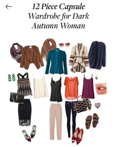 Dressing My Truth Blog: 12 Piece Fall Capsule Wardrobe for Dark Autumn Woman #autumnwardrobe