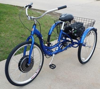 1000 Watt Electric Powered Tricycle Motorized Trike 26 Adult