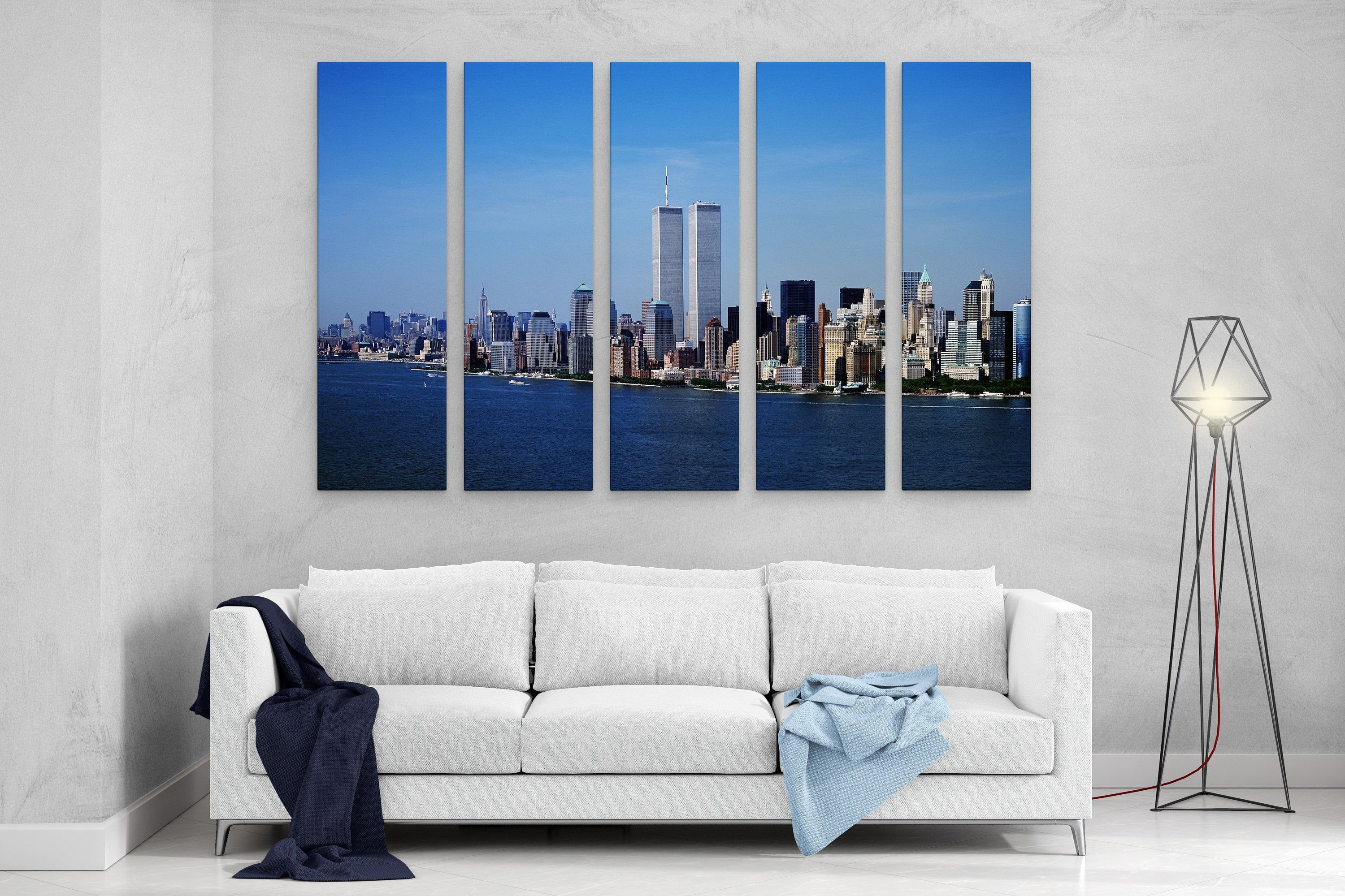 NEW YORK TWIN TOWERS ABSTRACT CANVAS PRINT PICTURE WALL ART HOME DECOR FREE P/&P