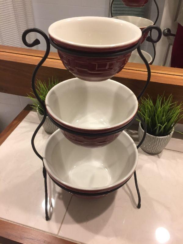 3 Tier Wrought Iron Bowl Set Longaberger Mixing Bowls And Three