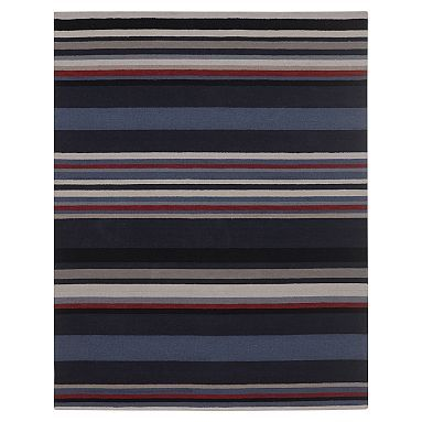 League Stripe Rug Navy With Images Striped Rug Rugs Navy Rug