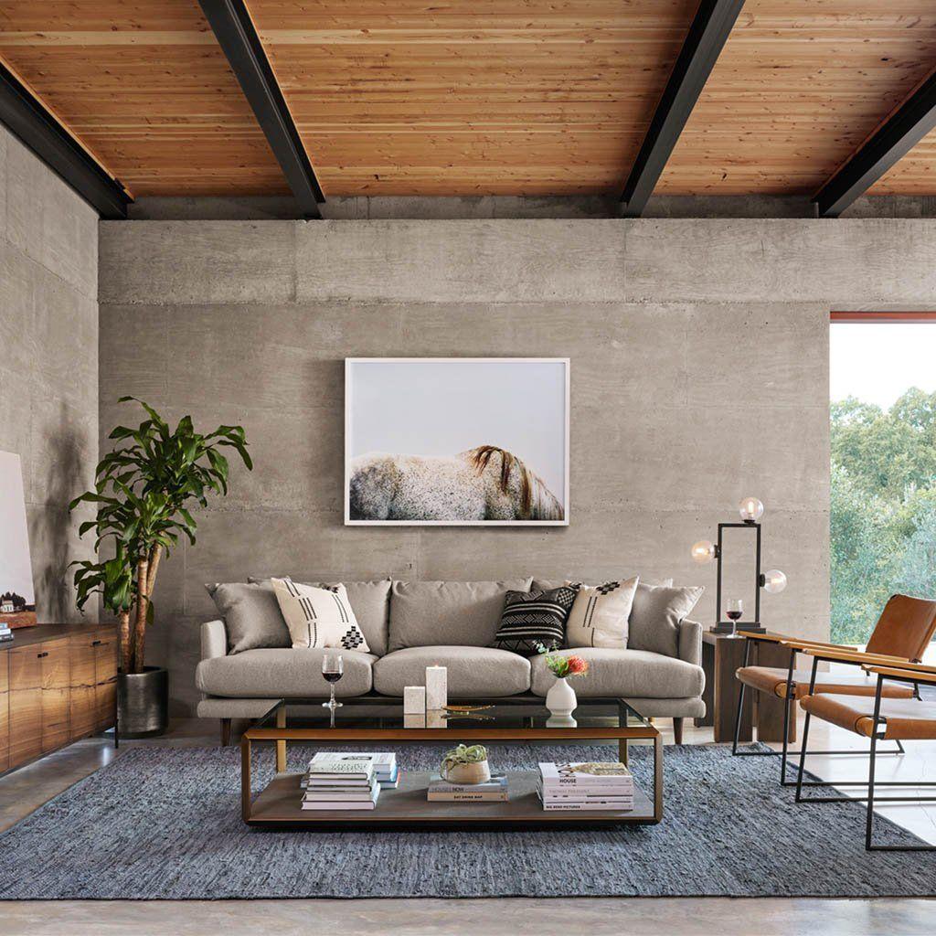 Woven leather slate blue rug