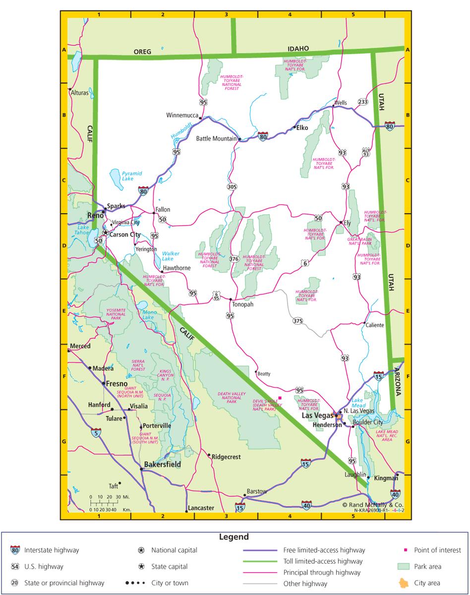 Nevada Road Map | Nevada Road Map | VIA LAS VEGAS | Map, Las ...