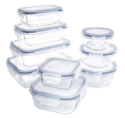 Glass Food Storage Container Set - BPA Free - Use for Home Kitchen and Restaurant - Snap On Lids Keep Food Fresh With Airtight Seal Safe for Dishwasher ...  sc 1 st  Pinterest & Glass Storage Containers Set by 1790 | Top 20 Best Glass Food ...