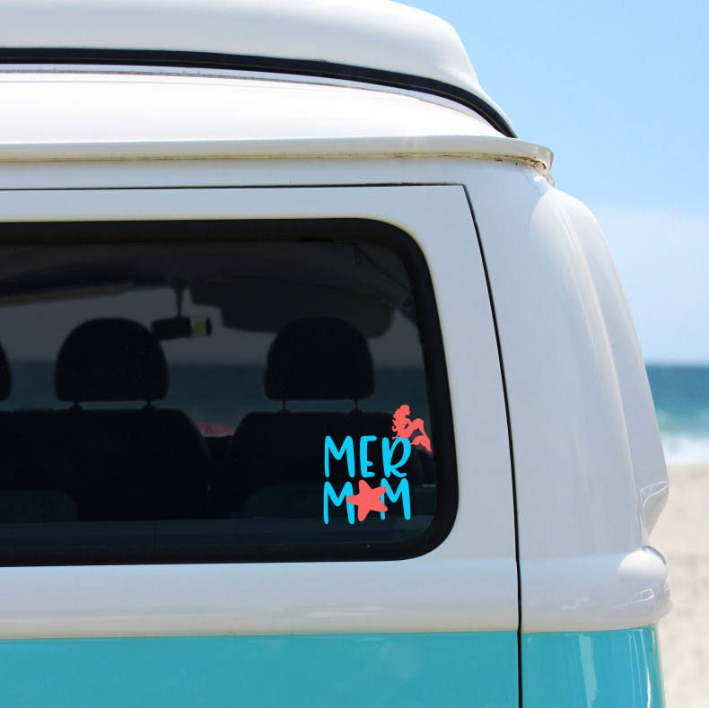 Mermaid decal mermom decal yeti decal yeti decal for women laptop decal vinyl car