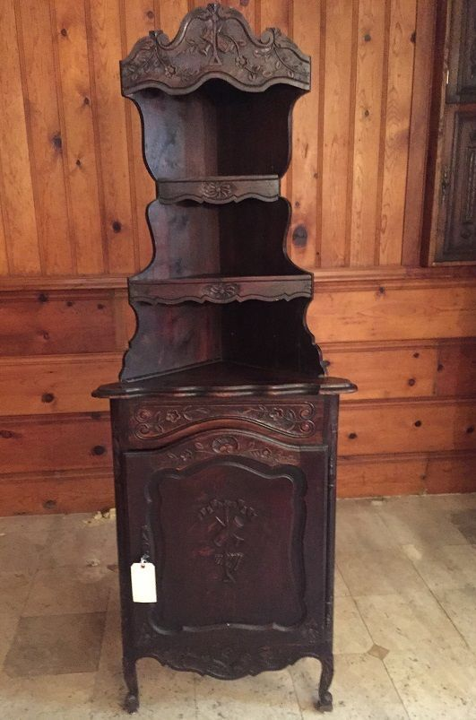 Superb Antique French Provincial Corner Cabinet Frenchprovincial