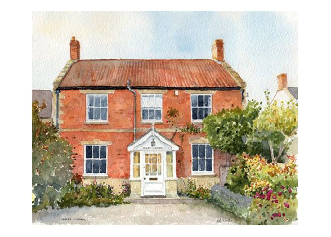House Portrait Home Portrait Watercolour House Painting House