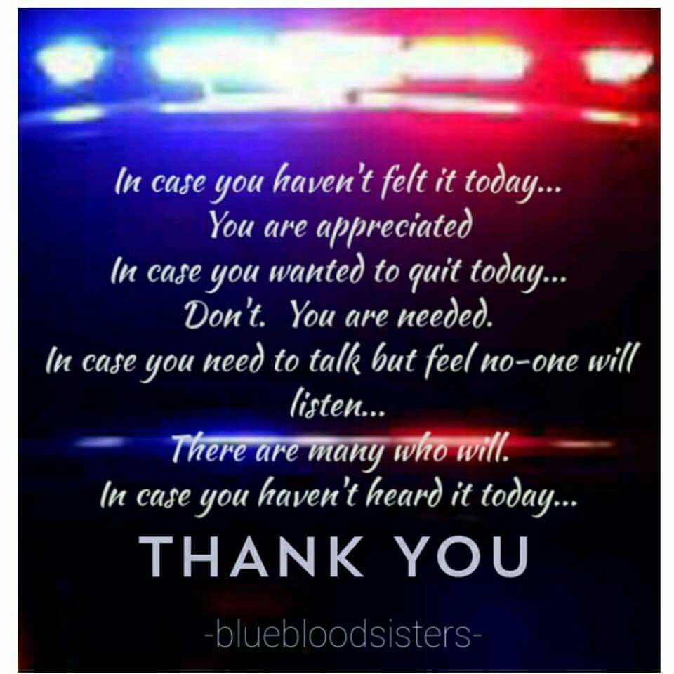 Police Appreciation Blue Book Sister Police Thank You Gift Ideas