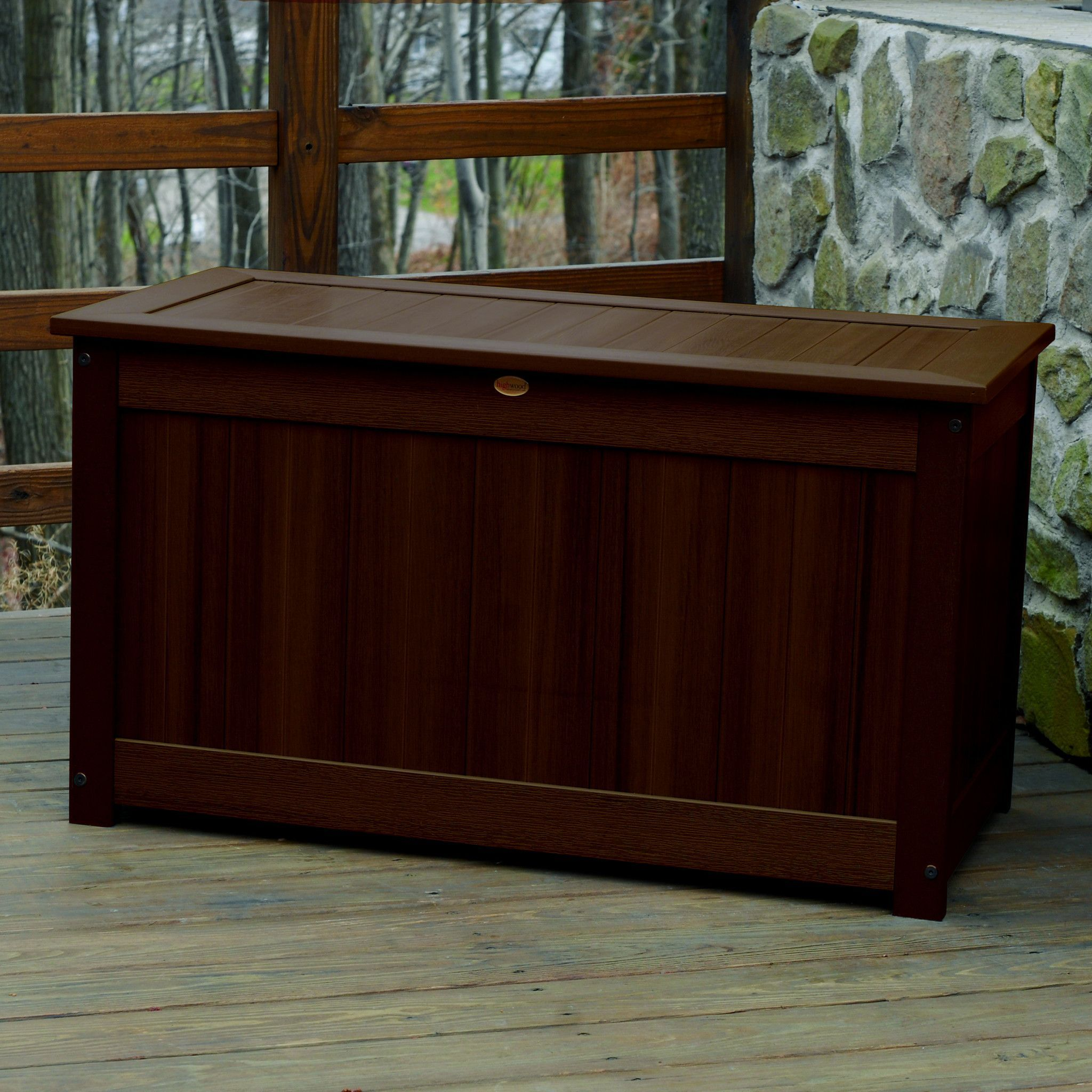 Highwood synthetic wood Deck Patio Storage Box
