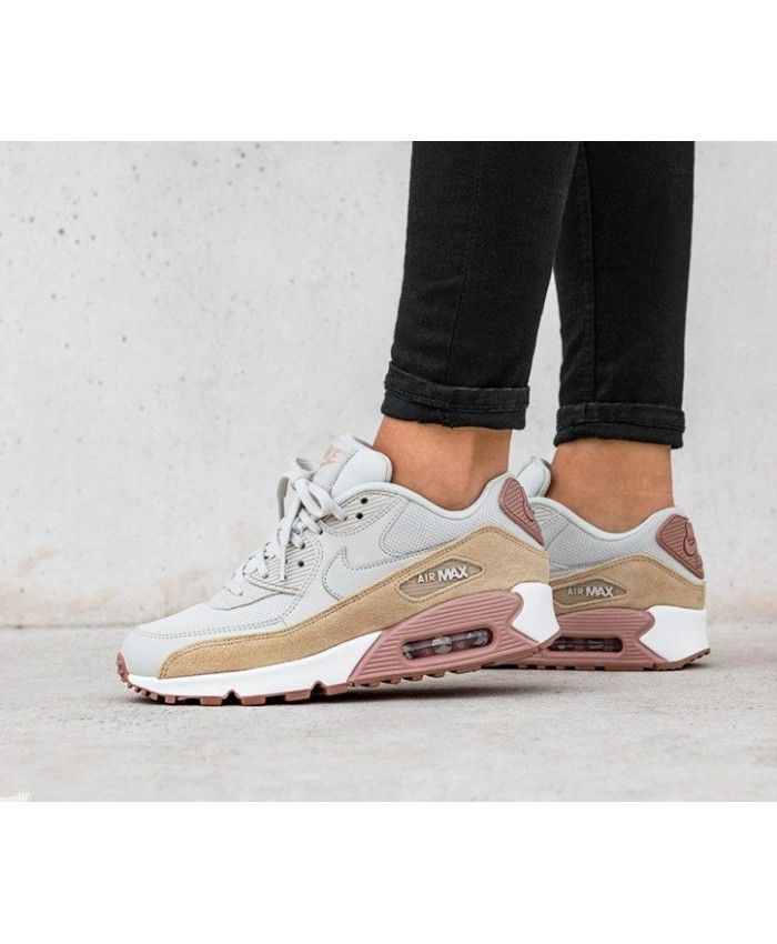Nike Air Max 90 Trainers In Pink Grey and White | Shoes and
