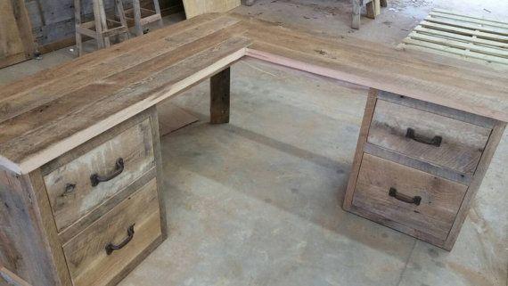 Grange récupéré bois coin bureau livraison par timelessjourney