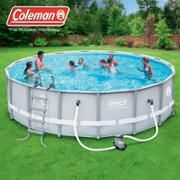 Intex 15 X 48 Metal Frame Above Ground Pool With Filter Pump Walmart Com Coleman Pool Plastic Swimming Pool Swimming Pools